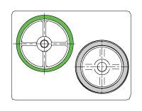 台車用車輪【ホイール(芯金部)の材質で分類】