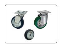 台車で最も使用される鋼板製プレス車輪について