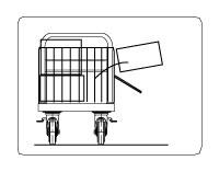 荷物落下防止の安全柵、ガードから台車を選びます。